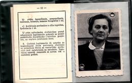ANNUALLY RAILWAY TICKET , YUGOSLAVIA 1968 - Abonnements Hebdomadaires & Mensuels