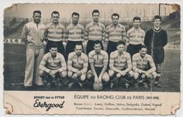 Cpa  Football  Equipe De Racing Club De Paris 1949/1950 - Soccer