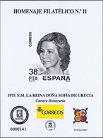 ESPAÑA SPAIN ESPAGNE SPANIEN EDIFIL HOMENAJE FILATÉLICO 11 LA REINA SOFÍA DE GRECIA CARTERA HONORARIA 2016 MNH - 1931-Hoy: 2ª República - ... Juan Carlos I