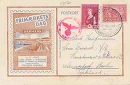 Dänemark: 1942 Postkarte Sonderstempel Nach Berlin, Zensur - Dänemark