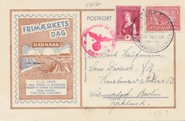 Dänemark: 1942 Postkarte Sonderstempel Nach Berlin, Zensur - Denmark