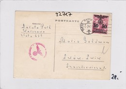 GG: Postkarte Von Warschau Nach Lemberg/Russland, Zensur - Occupation 1938-45