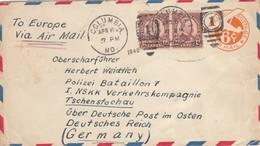 GG USA: Brief Aus Columbia Nach Tschenstochau, An NSKK Verkehrskompanie - Occupation 1938-45