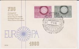 Belgium 1960 FDC Europa CEPT (G99-29) - Europa-CEPT