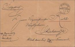 DSWA: Brief Windhuk 1904 Nach Skahanja/Okahandja Als Feldpost - Colonie: Afrique Sud-Occidentale
