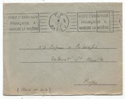 LETTRE MECANIQUE RBV AIDEZ L'ENTR'AIDE FRANCAISE A VAINCRE LA MISERE PP 18 DEC 47 PARIS V - Marcophilie (Lettres)