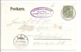 Germania. Posthilfsstelle Gausbach-Weisenbach 12.6.05 - Briefe U. Dokumente