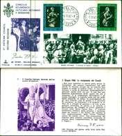 12101a)F.D.C.serie Concilio Ecumenico Vaticano II- 7-11-63 SESSIONE II-PAOLO VI - FDC
