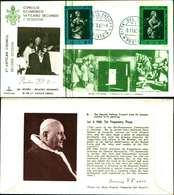 12103a)F.D.C.serie Concilio Ecumenico Vaticano II- 5-11-63 SESSIONE II-PAOLO VI - FDC