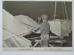 (1960) Mine De Sel De BEVIEUX BEX   - Poele à Caisson  Et Mineur - Coupure De Presse Originale (Encart Photo) - Documents Historiques