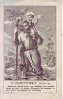 - Ancienne Image Pieuse, Image Religieuse - Saint Christophe - - Religion & Esotérisme