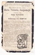 DP Maria F. Jacquemeyn / Van Kerckhoven ° Zichem 1846 † 1914 X Alaerts Allaerts Xx Van Rompay Xxx Huybrechts / Jacquemyn - Imágenes Religiosas