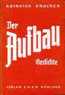 Der Aufbau - Gedichte. - Alte Bücher