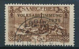 SARRE SAARGEBIET SAARLAND Poste 187 (o) Volksabstimmung Plébiscite 1935 (CV 42 €) - Unused Stamps