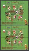 Kyrgyzstan 06.07.2002 Mi # Bl 29-30 2002 FIFA World Cup Final & Third Place, GOLD & SILVER OVPT, Korea-Japan, MNH OG - Kirgizië