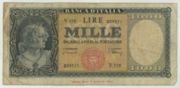 Italia . 1000 Lire 1947 . - 1000 Lire