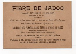 Bordeaux / Blaye / Margaux (33 Gironde) Carte FIBRE DE JADOO (culture Des Plantes Sans Terre)  (PPP18712) - Publicités