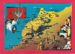 Modern Post Card Of Map,Maroc,Morocco ,L60. - Morocco