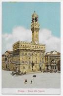 Firenze - Piazza Della Signoria - Retro Indiviso - Editore Gobbato - Firenze (Florence)