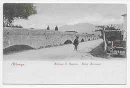Albenga - Riviera Di Genova.  Ponte Romano - Retro Indiviso - Autres Villes