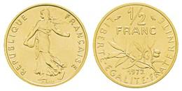 Monnaie 50 Centimes Marianne, 1972  Or Pl  Rare Edition Limitee - Or