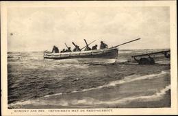 Cp Egmond Aan Zee Nordholland, Oefeningen Met De Reddingsboot - Nederland