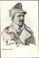 Artiste Cp Gefangener Rumäne, Kriegsgefangener - Militaria