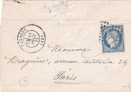 359  -  CERES  60   FALAISE  A  PARIS - Postmark Collection (Covers)