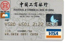 Carte Visa Magnétique Hologramme Bank Banque Paiement Karte Chine China  Card (D 510) - Phonecards