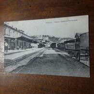Cartolina Postale 1920, L'Aquila Interno Stazione Ferroviaria - L'Aquila