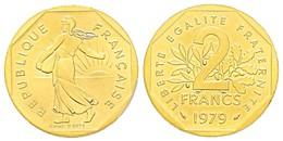 Monnaie 2 FRANCS, 1979  OR PL  Rare Edition Limitee - Or