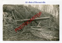 Bois D'HERMEVILLE-Canon De 140-CARTE PHOTO Allemande-Guerre 14-18-1WK-France-55-Militaria - France