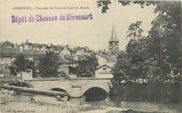 MIRECOURT - Vue Prise Des Bords Du Canal Du Moulin, Deux Cachets Dépôt De Chevaux De Mirecourt. - Mirecourt