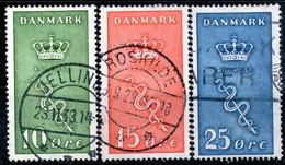 Denmark,1929,used Set Of Y&T#190/192,Michel#177/179,Scott#1B3/B5,as Scan - 1913-47 (Christian X)