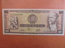 PEROU 500 SOLES 1975 PEU CIRCULER (B.3) - Pérou