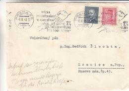 Tchècoslovaquie - Devant De Lettre De 1948 - Oblit Praha - Exp Vers Lomnice - Tschechoslowakei/CSSR