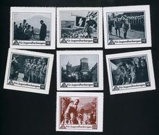 7 Vignetten  Hitler  Propaganda  Nazi  Für Jugendherbergen   1933-45   Erhaltung/Cond. 2  Nr. 00773 - Guerra 1939-45