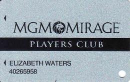 USA, MGM Mirage Players Club, Casino + Hotel Magnetic Card Las Vegas, Bellagio, New York, Detroit - Tarjetas De Casino