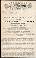 Zillebeke, Langemark, 1948, Jules Thoma, Deleu - Andachtsbilder