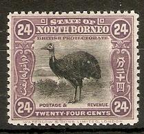 NORTH BORNEO 1925 24c SG 288 PERF 12½  MOUNTED MINT Cat £80 - Nordborneo (...-1963)