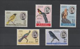 Ethiopie 1963 Oiseaux Série PA 74-78 5 Val ** MNH - Äthiopien