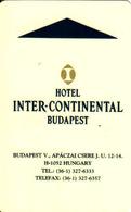 Hungary, Casino Vigadó Budapest + Hotel Interkontinental Budapest Magnetic Card - Cartes De Casino
