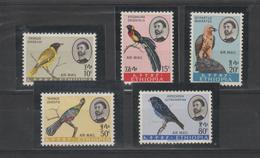 Ethiopie 1963 Oiseaux Série PA 74-78 5 Val * Charnière - Ethiopie
