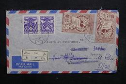 EGYPTE - Enveloppe En Recommandé Pour La France En 1959 , Affranchissement Plaisant - L 31985 - Lettres & Documents