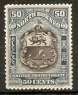 NORTH BORNEO 1925 50c SG 290 PERF 12½  LIGHTLY MOUNTED MINT Cat £32 - North Borneo (...-1963)