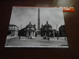FOTO ALINARI -ROMA-PIAZZA DEL POPOLO CON LA CHIESA DI S.M. DEI MIRACOLI E D.S.M. DI MONTESANTO-1936 - Luoghi