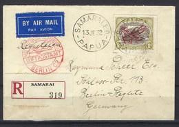 Recommandé De Samarai ( Papua ) Pour Berlin ( Allemagne ) Avec Cachet Rouge Du Bureau De Poste Aérienne Berlin C2 - Papua Nuova Guinea