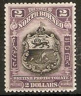 NORTH BORNEO 1925 $2 SG 292 PERF 12½  LIGHTLY MOUNTED MINT Cat £95 - North Borneo (...-1963)