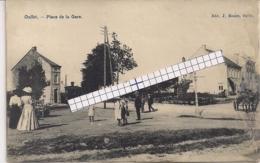 "OUFFET ""PLACE DE LA GARE AVEC TRAM A VAPEUR-STOOMTRAM "" EDIT BOULET - Ouffet"