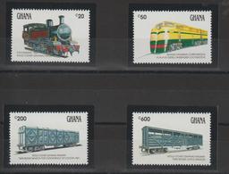 Ghana 1992 Trains Série 1342-45 4 Val ** MNH - Ghana (1957-...)